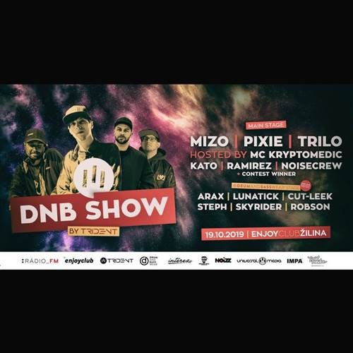 DnB show by III Trident w.MIZO / PIXIE / TRILO & MC Kryptomedic