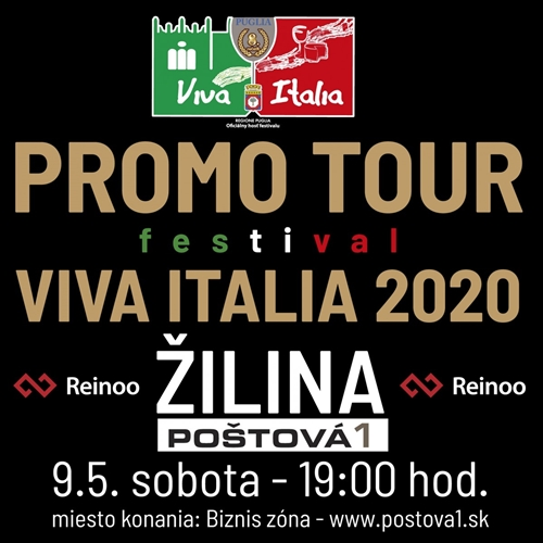 PROMO TOUR VIVA ITALIA 2020 - ŽILINA