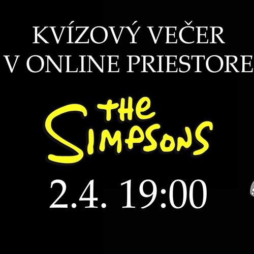 Kvízový večer v online priestore - Simpsonovci